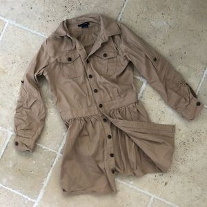 Ralph Lauren Dresses - Ralph Lauren Khaki Cargo Shirt Dress Button Down